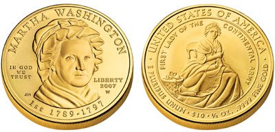 Martha Washington First Spouse Gold Coin