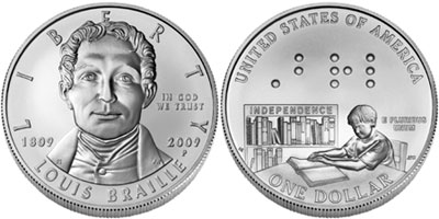 Louis Braille Commemorative Coin