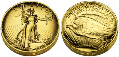 Ultra High Relief Gold Double Eagle