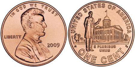 2009 Lincoln Penny Illinois Capitol Building