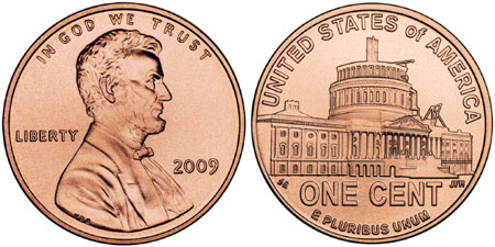 2009 Lincoln Penny Unfinished Capitol Dome