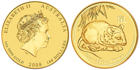 Gold Lunar Coin Series