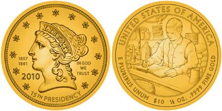 James Buchanan's Liberty First Spouse Gold Coin