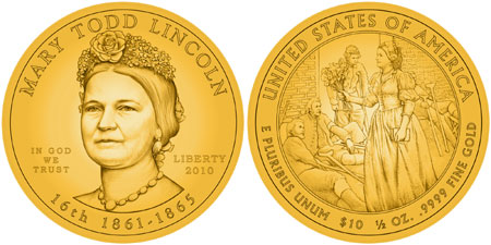 Mary Todd Lincoln First Spouse Gold Coin