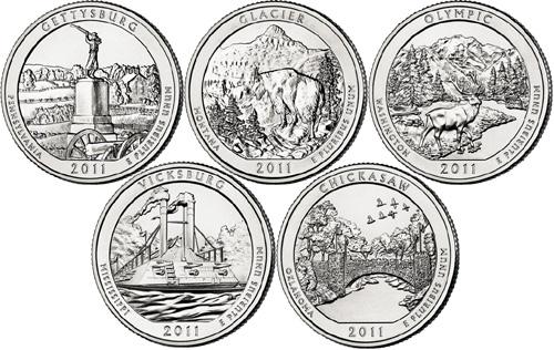 2010 2011 2012 2013 P+D America the Beautiful National Park Mint Set of Quarters