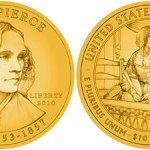 Jane Pierce First Sposue Gold Coin